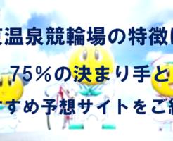 伊東温泉競輪場の特徴は?75%の決まり手とおすすめ予想サイトをご紹介