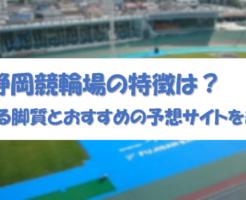 静岡競輪場の特徴は?大穴が狙える脚質とおすすめの予想サイトを紹介